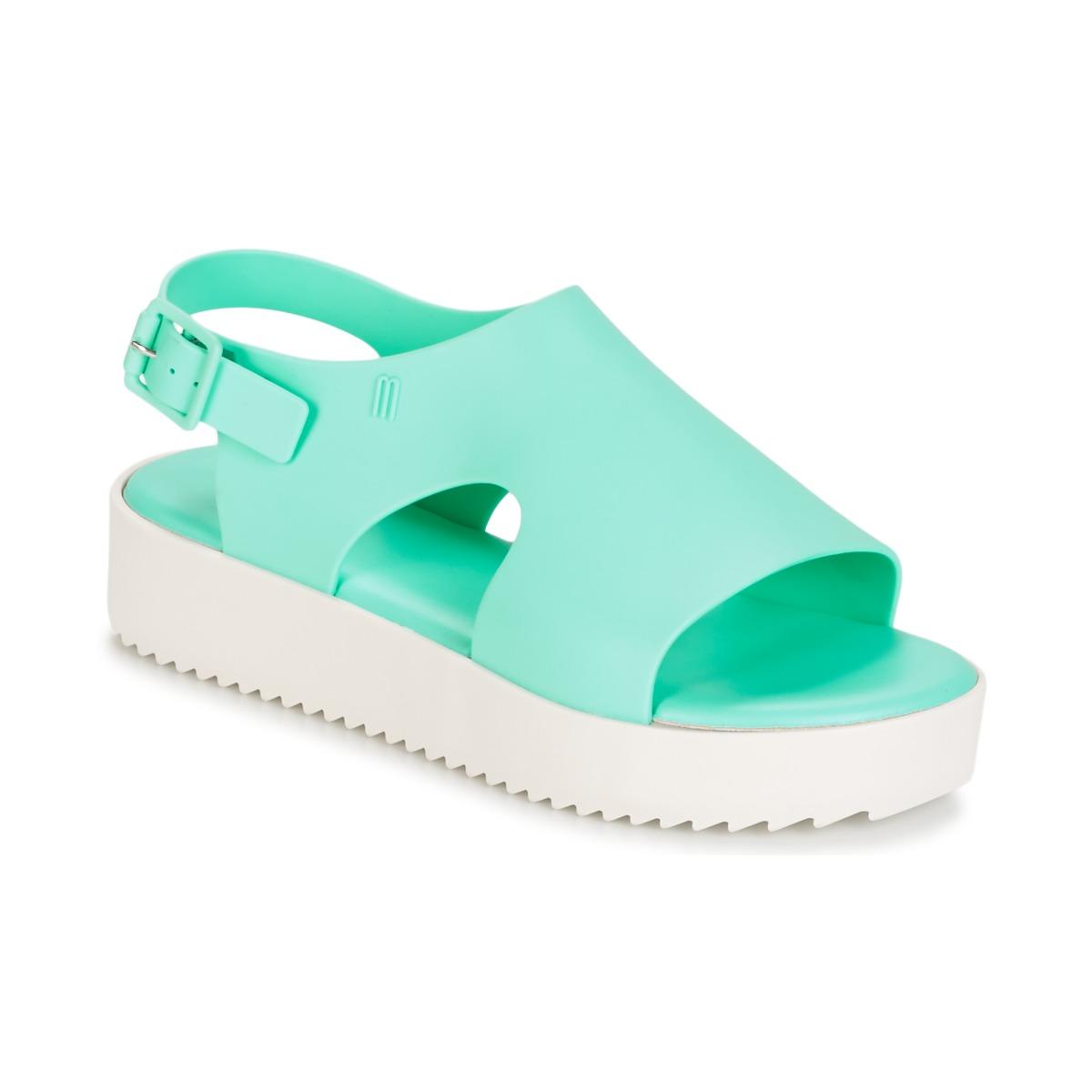 Melissa HOTNESS Grün / Weiss - Kostenloser Versand bei Spartoode ! - Schuhe Sandalen / Sandaletten Damen 58,00 €