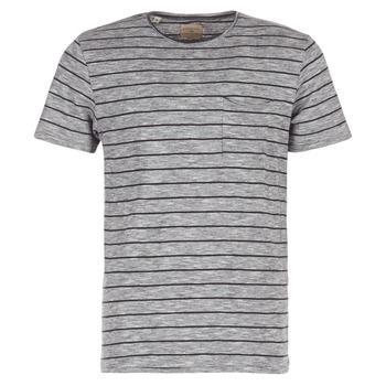 Kleidung Herren T-Shirts Selected FINN Grau / Schwarz