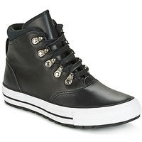 Schuhe Damen Sneaker High Converse CHUCK TAYLOR ALL STAR EMBER BOOT SMOOTH LEATHER HI BLACK/BLACK/W Schwarz / Weiss