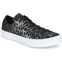 Schuhe Damen Sneaker Low Converse CHUCK TAYLOR ALL STAR SHIMMER SUEDE OX BLACK/BLACK/WHITE Schwarz / Weiss