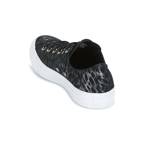 Converse CHUCK TAYLOR TAYLOR TAYLOR ALL STAR SHIMMER SUEDE OX BLACK/BLACK/Weiß Schwarz / Weiss  Schuhe Sneaker Niedrig Damen 58,49 b24dd5