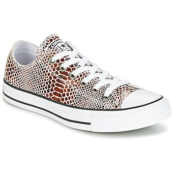 Schuhe Damen Sneaker Low Converse CHUCK TAYLOR ALL STAR FASHION SNAKE OX BROWN/BLACK/WHITE Schwarz / Weiss