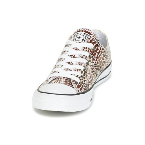 Converse CHUCK TAYLOR ALL STAR FASHION SNAKE OX BROWN/BLACK/WHITE Schwarz / Weiss  Schuhe Sneaker Low Damen 67,99