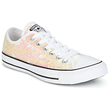Schuhe Damen Sneaker Low Converse CHUCK TAYLOR ALL STAR SEQUINS OX WHITE/BLACK/WHITE Weiss