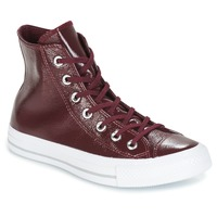 Schuhe Damen Sneaker High Converse CHUCK TAYLOR ALL STAR CRINKLED PATENT LEATHER HI DARK SANGRIA/DA Bordeaux / Weiss