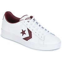 Schuhe Herren Sneaker Low Converse PL 76 FOUNDATIONAL LEATHER WITH ELEVATED DETAILING OX WHITE/DEEP Weiss / Bordeaux