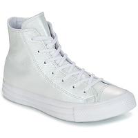 Schuhe Damen Sneaker High Converse CHUCK TAYLOR ALL STAR IRIDESCENT LEATHER HI IRIDESCENT LEATHER H Weiss