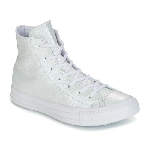 Converse CHUCK TAYLOR ALL STAR IRIDESCENT LEATHER HI IRIDESCENT LEATHER H Weiss  Schuhe Sneaker High Damen 79,99