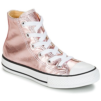 Schuhe Mädchen Sneaker High Converse CHUCK TAYLOR ALL STAR METALLIC SEASONAL HI METALLIC SEASONAL HI Rose / Weiss / Schwarz