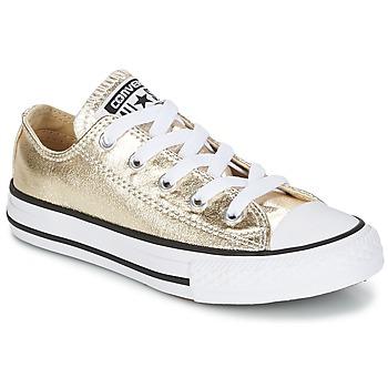 Schuhe Mädchen Sneaker Low Converse CHUCK TAYLOR ALL STAR Gold / Weiss / Schwarz