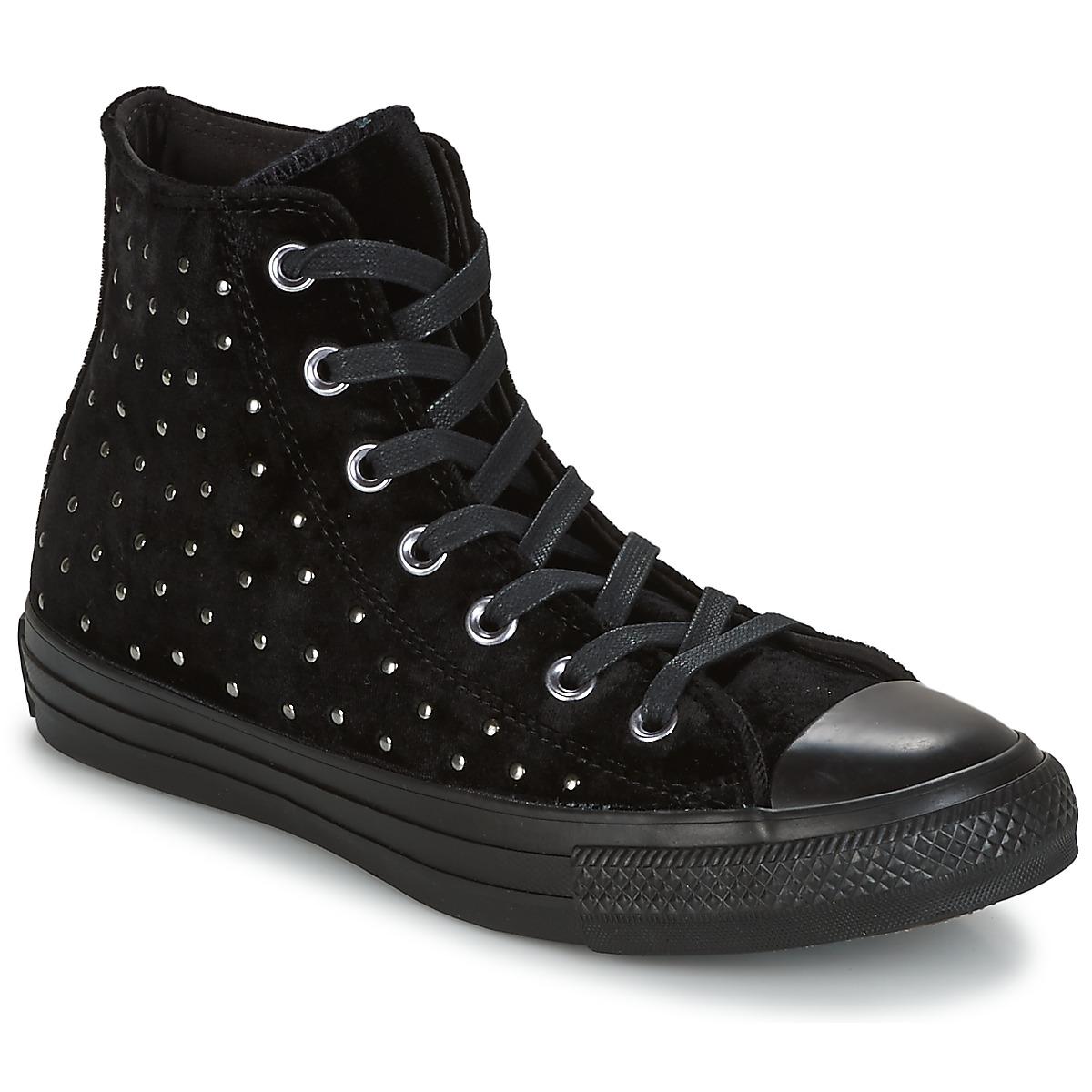 Converse CHUCK TAYLOR ALL STAR HI Schwarz - Kostenloser Versand bei Spartoode ! - Schuhe Sneaker High Damen 76,30 €