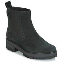 Schuhe Damen Boots Timberland COURMAYER VALLEY CHELSEA Schwarz