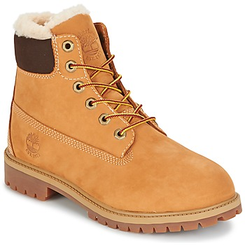 Schuhe Kinder Boots Timberland 6 IN PRMWPSHEARLING LINED Braun