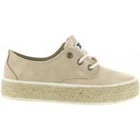Schuhe Mädchen Leinen-Pantoletten mit gefloch Xti 54790 Gold