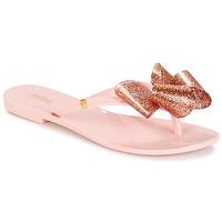 Schuhe Damen Zehensandalen Melissa HARMONIC TARTAN AD Rose