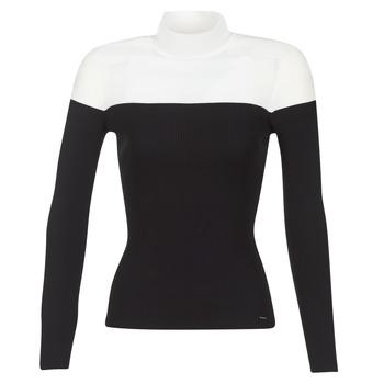 Kleidung Damen Pullover Morgan MICO Schwarz / Weiss