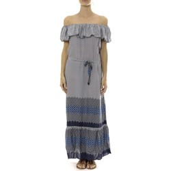 Kleidung Damen Maxikleider By La Vitrine Robe Longue Care  of you Bleu Blau