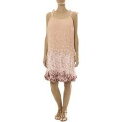 Kleidung Damen Kurze Kleider By La Vitrine Robe Rose Care of you Imprimée Fleurs F50113 Rose