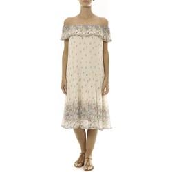 Kleidung Damen Kurze Kleider By La Vitrine Robe Beige Care of you Imprimée Fleurs F50134 Beige