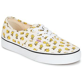 Schuhe Sneaker Low Vans AUTHENTIC SNOOPY Weiss / Gelb