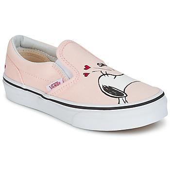 Schuhe Mädchen Slip on Vans TD CLASSIC SLIP-ON SNOOPY Rose