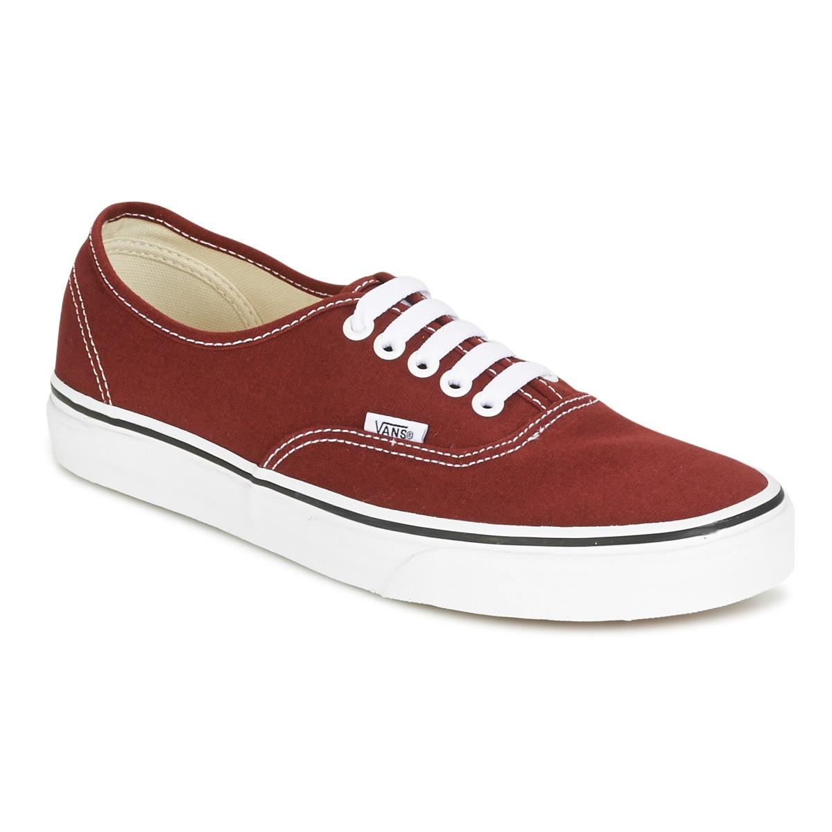 Vans AUTHENTIC Rot - Kostenloser Versand bei Spartoode ! - Schuhe Sneaker Low  55,99 €