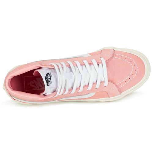 Vans SK8-HI SLIM Rose / Weiss - Schuhe Sneaker High Damen 63