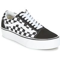 Schuhe Damen Sneaker Low Vans UA OLD SKOOL PLATFORM Schwarz / Weiss