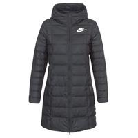 Kleidung Damen Daunenjacken Nike DOWN FILL PARKA Schwarz / Weiss