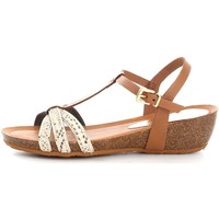 Schuhe Damen Sandalen / Sandaletten Vita Unica 201 Sandalen Frau Gold/Leather Gold/Leather