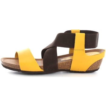 Schuhe Damen Sandalen / Sandaletten Vita Unica 222 Sandalen Frau Yellow/Brown Yellow/Brown