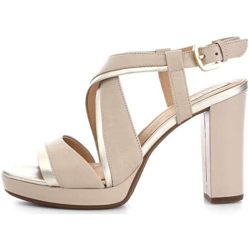 Geox D724LD85NF Sandalen Frau Taupe Taupe