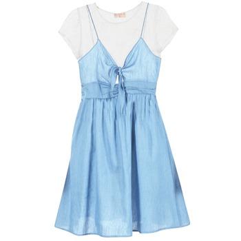 Kleidung Damen Kurze Kleider Moony Mood GLAM Blau