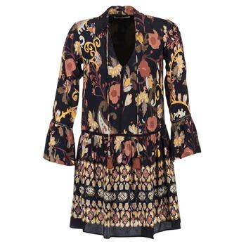 Kleidung Damen Kurze Kleider Derhy DEGUSTATION Schwarz / Multifarben