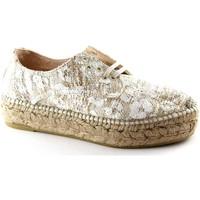 Schuhe Damen Leinen-Pantoletten mit gefloch Espadrilles EDO Rohrahm Schuhe Plattform Seil Schnürsenkel Beige