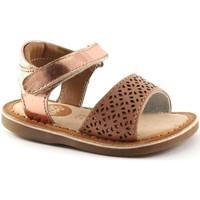 Schuhe Kinder Sandalen / Sandaletten Gioseppo 31801 rosa Baby Rippen Sandalen aus Leder Rosa
