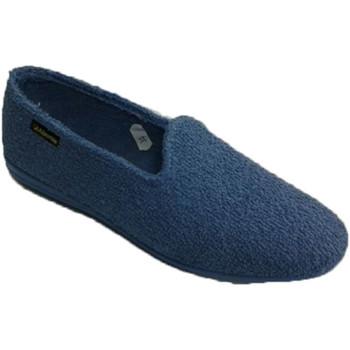 Schuhe Damen Hausschuhe Made In Spain 1940  Slipper Wohnung Haus Handtuch sein Alb Blau