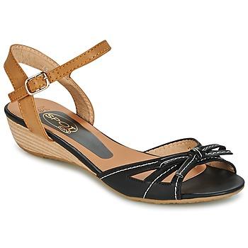 Schuhe Damen Sandalen / Sandaletten Spot on  Schwarz