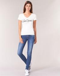 Kleidung Damen Röhrenjeans Pepe jeans SOHO  z63 / Blau