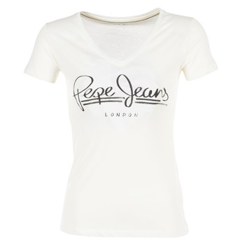 Kleidung Damen T-Shirts Pepe jeans BRENDA Weiss