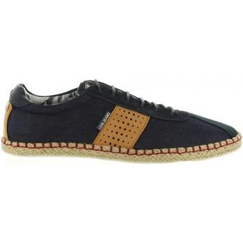 Schuhe Herren Leinen-Pantoletten mit gefloch Lois 84422 Azul