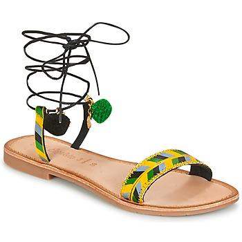 Schuhe Damen Sandalen / Sandaletten Lola Espeleta EDWINA Grün / Gelb / Schwarz