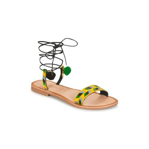 Lola Espeleta EDWINA Grün / Gelb / Schwarz  Schuhe Sandalen / Sandaletten Damen 47,19