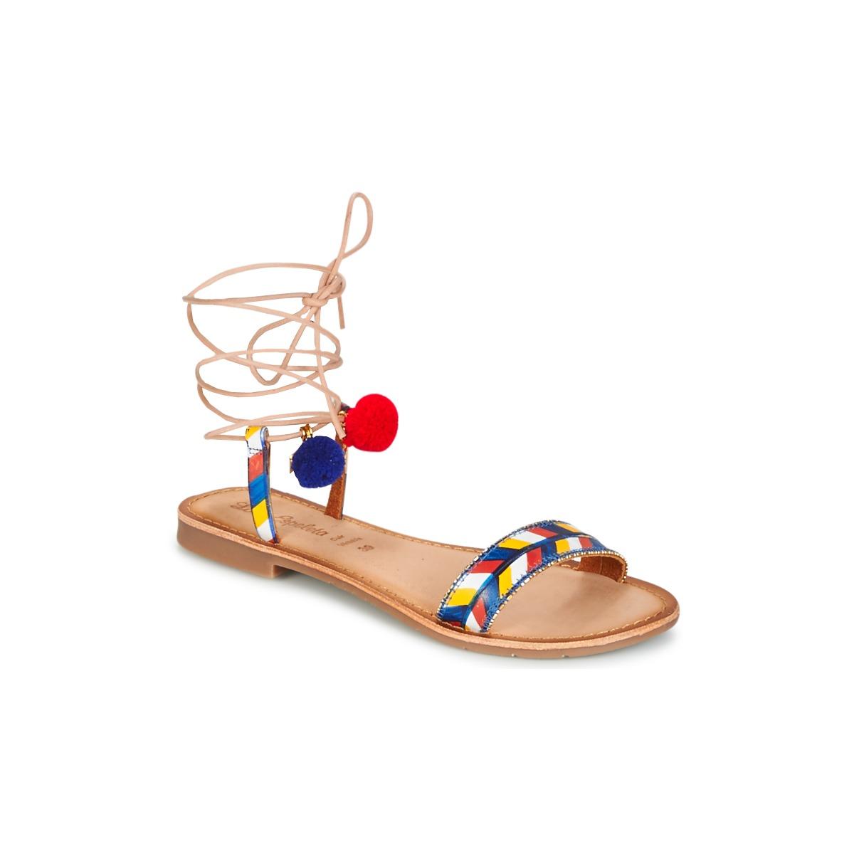 Lola Espeleta EDWINA Blau - Kostenloser Versand bei Spartoode ! - Schuhe Sandalen / Sandaletten Damen 35,39 €