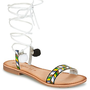 Schuhe Damen Sandalen / Sandaletten Lola Espeleta EDWINA Grün / Silbern