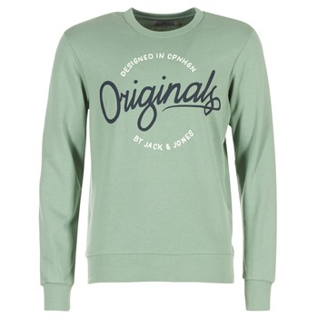 Kleidung Herren Sweatshirts Jack & Jones SWEEP ORIGINALS Grün