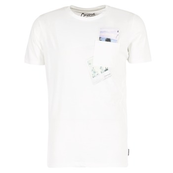 Kleidung Herren T-Shirts Jack & Jones CHECK ORIGINALS Weiss