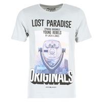 Kleidung Herren T-Shirts Jack & Jones FASTER ORIGINALS Grau