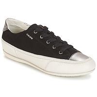 Schuhe Damen Sneaker Low Geox D N.MOENA D - SCAM.STA+VIT.CER Schwarz
