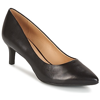 Schuhe Damen Pumps Geox D ELINA C - CAPRA NAPPATA Schwarz